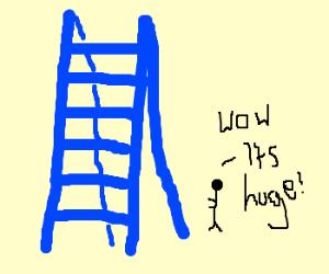 Big blue stepladder