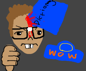 Nerd with book in head hates WoW & Cata