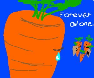 Sad Carrot Has No Friends