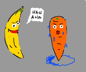 Carrot being bullied for sweat problems