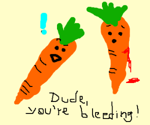 carrots bleed too
