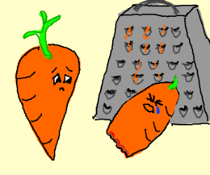 carrot looks at his hurt friend