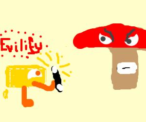 Butter turns Shroom Evil