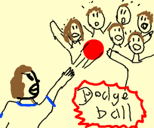 6v1 dodge ball in gym class