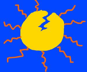 cracked sun