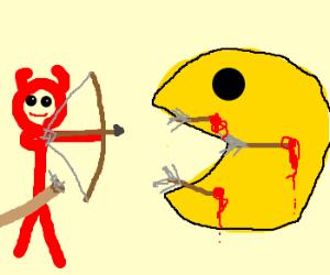 Demon archer killing Pac-Man