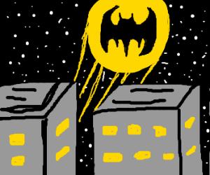 bat signal! (on the sky)