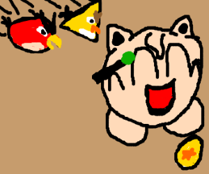 Angry Birds attack Jigglypuff