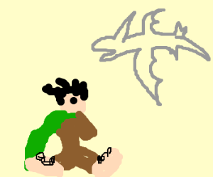 Frodo uses the help of a pterodactyle