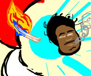 Pokeball summons Jimmie Hendrix