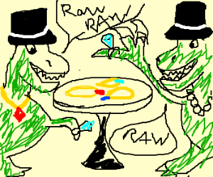 Polite dinos w fancy jewelry converse