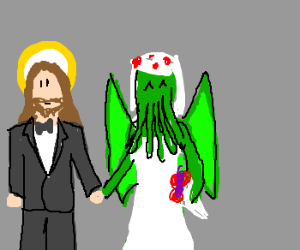 cthulu and jesus are getting married