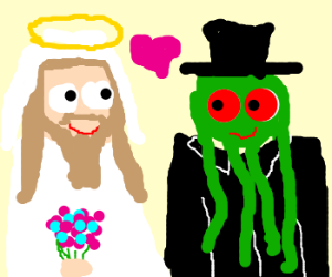 The wedding of Jesus and Cthulhu