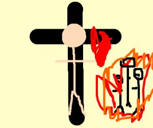 Jesus scolds children