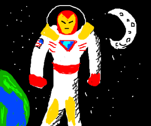 Iron Man In A Space Suit