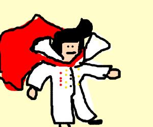 Elvis Pressley as a superhero