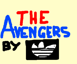 The Avengers sponsored by adidas