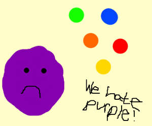 All the colors hate purple