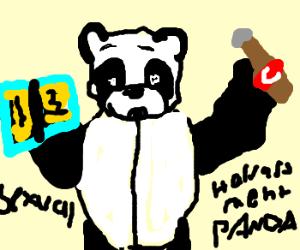 Sexual harassment panda cartoon face