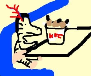 Dancing Zebras eating KFC