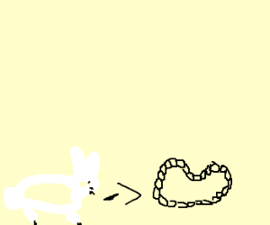 Bunny rabbit joins a chain gang