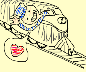 Train driver loves his job