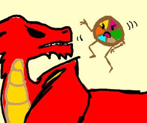 Dragon vs Trivial Pursuit pie pieces