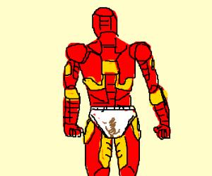 Iron Man in dirty underwear