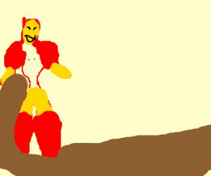 Iron Man loved riding the mud slide!