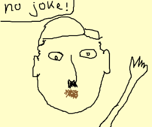 Hitler has a butthole for a mouth