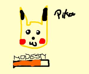 Pikachu is grateful for modesty bar