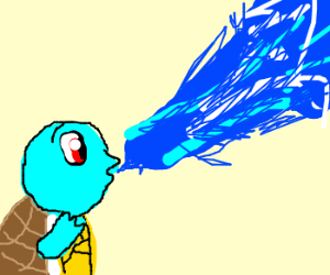 Squirtle! Use water blast!