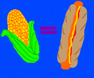 Corn=hot dog