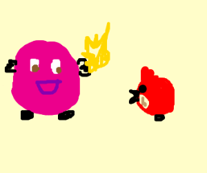 kirby wont give angrybird his dragonball