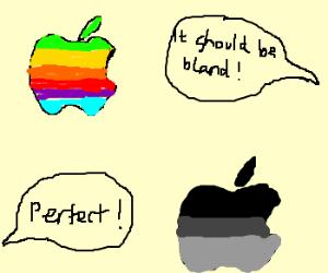 Steve Jobs dosen't like Apple's logo