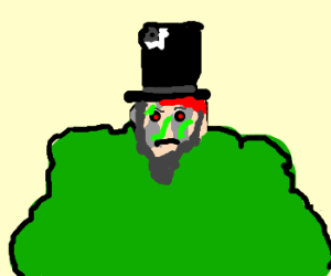 zombie abe lincoln in a bush