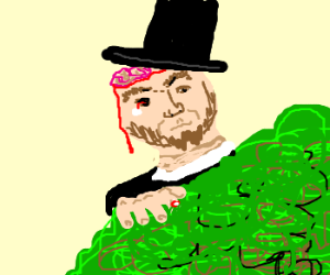 Zombie Abraham Lincoln in a Bush