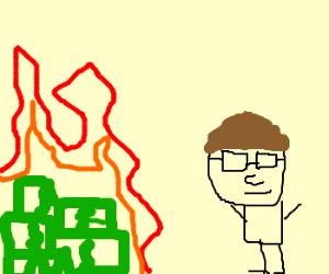 Bill Gates Burning Money