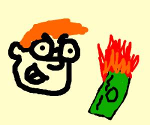 Bill Gates burns money