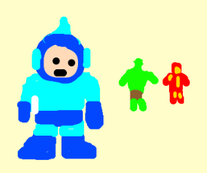 megaman and the avengers