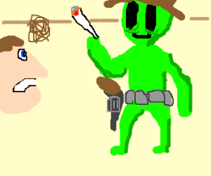 Man Confronts Stoner Cowboy Martian
