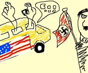 Patriot School Bus hates Nazis