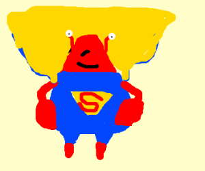 Supercrab with cape