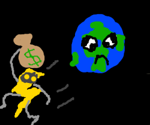 energy bandit steals from earth