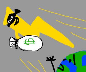 Lightning bandit steals earths swagbag
