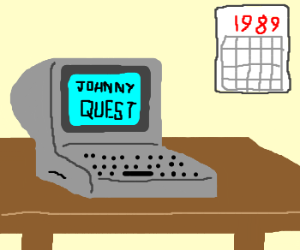 Johnny Quest: a computer from 1989?