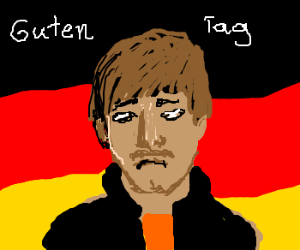 Sad Mustached German Greets you.