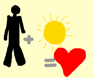 Man and sun created love
