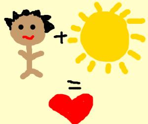 man + sun = ♥