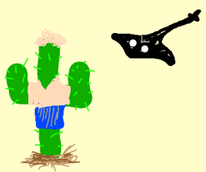 Steve Irvin reincarnated as a cactus